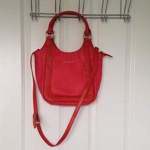 NWOT Bright red cross body bag